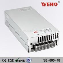 High voltage oem 600w single output voltage power supply ac dc power supply 220v 48v