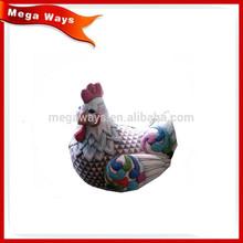Painting chicken handmake funny garden statues