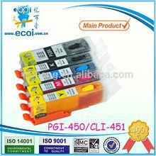pgi450 cli451, pgi-450 cli-451 refill ink cartridge, compatible for canon pixma ip7240