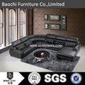 Round sofá chaise, couro do sofá do escritório, sofá de madeira cama cum a173#