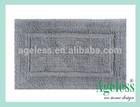 PVC cushion bath mat with suction cups , bath rug