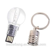 China Latest light bulb shape usb flash drive luminous usb