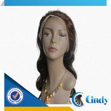 Two tone 20inch body wave brazilian human hair two tone full lace wig glue