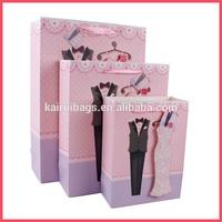 3D love elegant wedding bridal veil paper bag