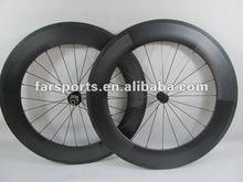 New U-shape aerodynamic 700C carbon clincher wheelset 88mm *23mm basalt braking surface (FSC88-CM-23)