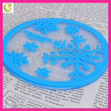 Soft PVC silicone or rubber heart shaped silicone coaster silicon cup coaster