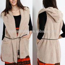 Factory supplier ladies fashion new design fur vests for women
