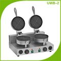 Double plaque professionnelle cuisine gastronomique belge gaufrier UWB-2
