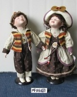 hot selling high quality couple russian ceramic porcelain doll