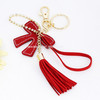 wholesale charms red imitation suede tassel for jewelry of handbag and key chain accessories