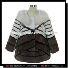 YZY1306Wholesale short fur coat with fox fur collar