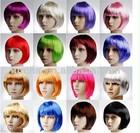 Halloween party color bob wig