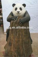 Fiberglass panda fiberglass models for sale