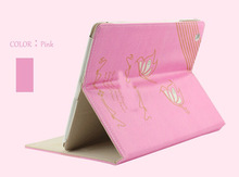 China supplier;tablet case for iPad Air; PU covered PC with function of carry, stand and mirror