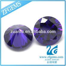 Round shape amethyst/violet russian diamonds wholesale