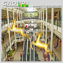 Christmas fiberglass deer for Shopping Mall fiberglass christmas gold reindeer decoration