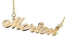 Name necklace name plate carrie necklace