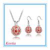 2014 fashion zircon bridal necklace/earrings jewelry sets