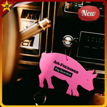 Factory direct sale pig scented hanging custom car air freshener
