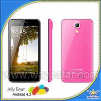 2015 HOT Best 4.5 inch smart phone pink colour quad core mobile phones
