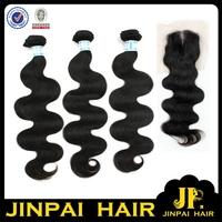FREE SHIPPING 5A 18'' 20'' 22'' Hair Bundles Add 14'' Closure JP Hair Virgin Indian Unprocessed Hair