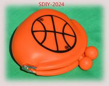 SDIY-2024 Basketball Gift, Girls Basketball, Basketball Silicone Coin Purse, Basketball Girl, Basketball Bow, Basketball Mom