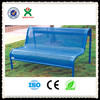 Alibaba china steel bench brackets/cheap blue cast iron park benches/outdoor furniture metal frame garden chair QX-145F