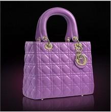 2014 Wholesale europe style women branded handbags high quality fashion quilted sheepskin bag guangzhou