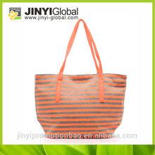 2014 New design colour strip shoulder bags cheap ladies big handbag