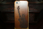 Statue of Liberty Cell Phone Case for Apple iPhone 5s Case, for Apple iphone 5s Wooden Case