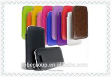 Pull Tab Leather Sleeve for apple iphone 6 4.7 iphone 6 plug 5.5
