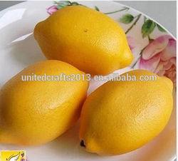 2015 hot sale artificial lemon fruit for decoration or photography props