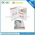 Caliente la venta de video lcd folleto/de vídeo tarjeta de felicitación para el negocio de promoción