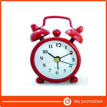 promotion gift twin bell mini alarm clock