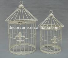 Decorative Antique Round Metal Bird Cage