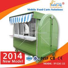 Newly Elegant Street Food Vending Cart/Mobile Hot Food Cart/Commercial Food Trucks and VansTrailer