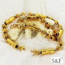 gn2014615 steel 18k gold wholesale necklace,statement 18k gold wholesale necklace