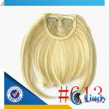 blonde brazilian 100 human remy hair clip on bangs for black women