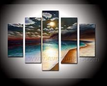 100% handmade beautiful seascape oil paintings wall art for home decor wholesale