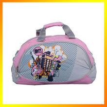 Stylish graphic print design nylon travel bag