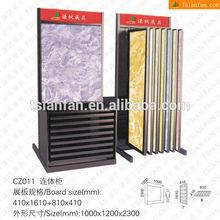CZ011 Luxuriousness Ceramic Tile Metal Display Cabinet