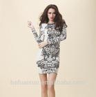 elegance long sleeve Bandage Dress K1814