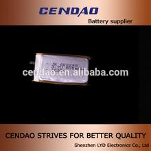 cendao hot sale polymer battery cell 3.7V 600mah 583036 best quality lipo battery technology
