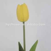 China artificial flowers/ pu tulip home decor/ yellow tulips