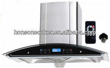 Kitchen hood 900mm wall mount automatic kitchen exhaust range hood side wall mounted range hood R207C-M