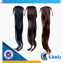 straightly various colors virgin brazilian human hair drawstring pony tail
