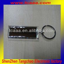 2014 new sale led flashing light up solar keychain