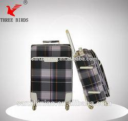 2014 aluminum trolley case,top quality PU luggage bag belt,4 scient wheels