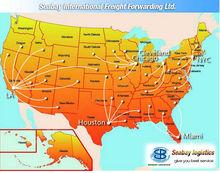 International to usa forwarding agent