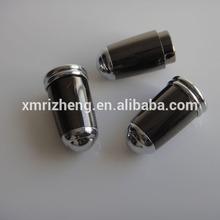 2014 New Arrival Promotional Gel-ink Pen Cap, Black Shiny Metal Pen Cap